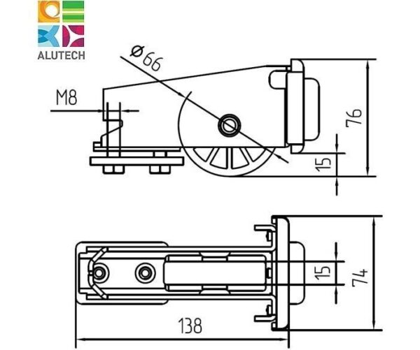 Alutech SGN.01.320 ролик концевой