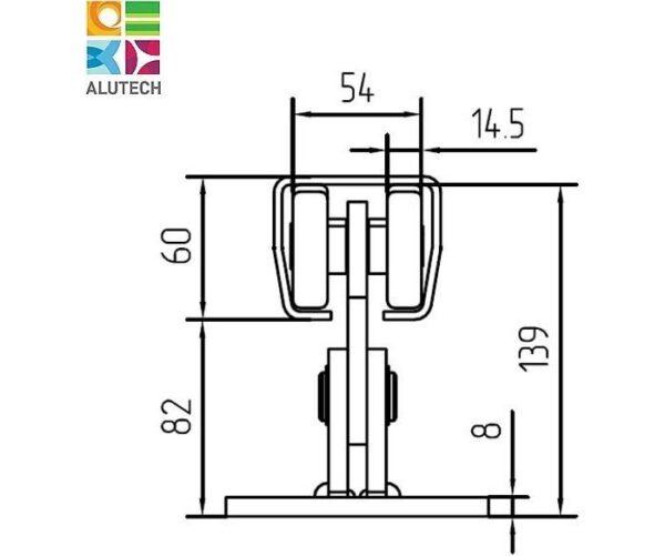 Alutech SGN.01.150 тележка роликовая