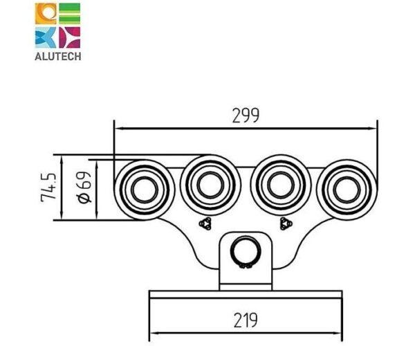 Alutech SGN.02.150 тележка роликовая