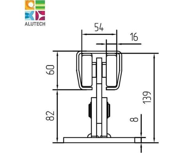 Alutech SGN.01.100 тележка роликовая