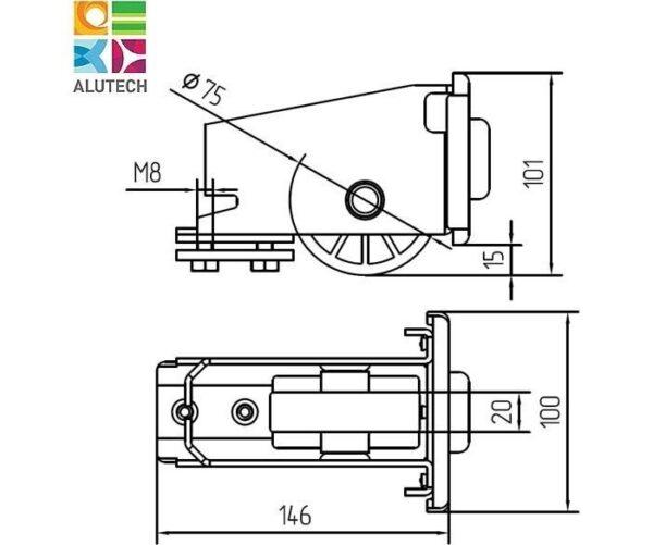 Alutech SGN.02.320 ролик концевой