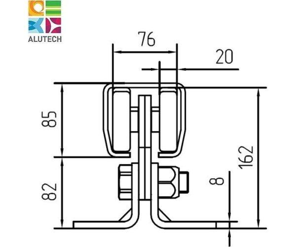 Alutech SGN.02.140 тележка роликовая