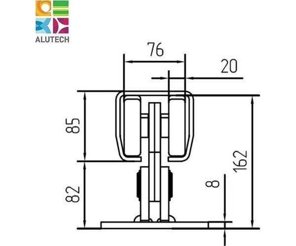 Alutech SGN.02.100 тележка роликовая