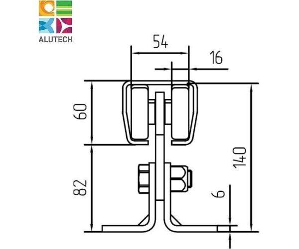 Alutech SGN.01.140 тележка роликовая